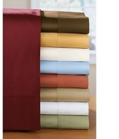 1500 Thread Count 100 Egyptian Cotton Solid Bed Sheet Set