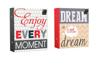 Photo Album 500 Photos with Slogan Enjoy Every Moment or Dream a little Dream