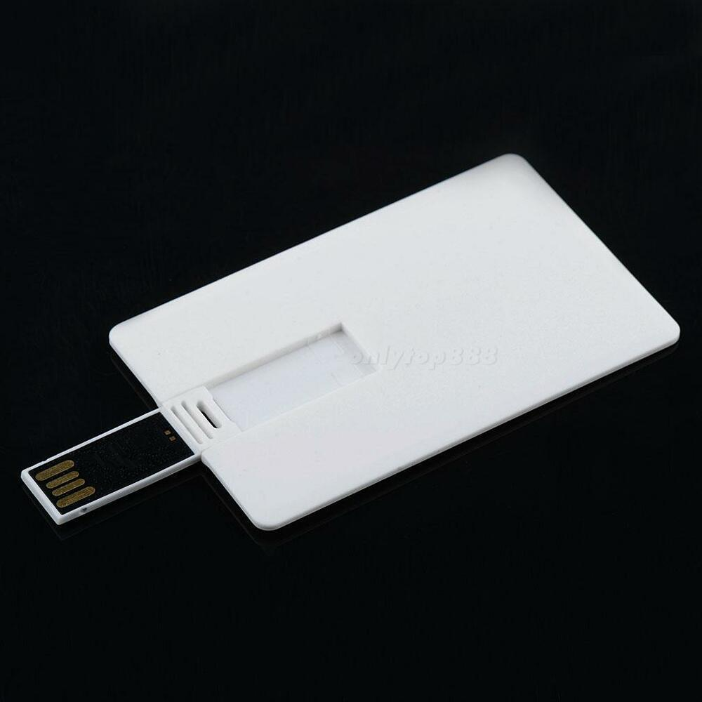 64gb Credit Card Usb 2 0 Flash Drive Blank Diy Memory