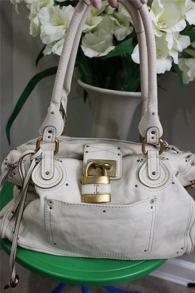 Chloe Paddington Lock Large Ivory Tote Bag Purse P1200 | eBay