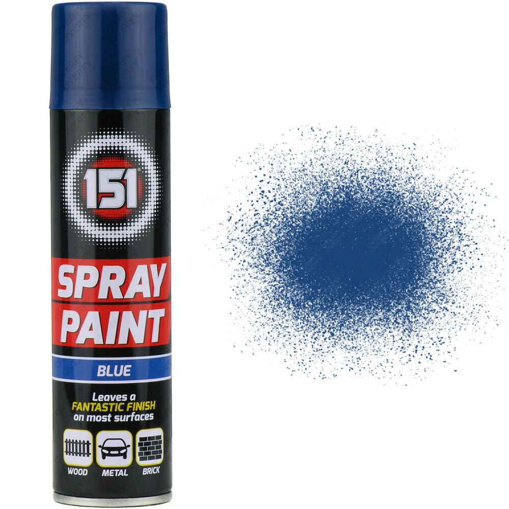 23 X 300ml 151 Blue Gloss Aerosol Paint Spray Cars Wood Metal Walls Graffiti Ebay