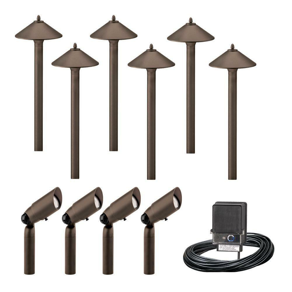Malibu Decorative 10-Piece Outdoor Aged Brass Pro