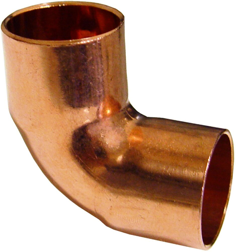 Quot degree copper elbow fitting pieces ebay