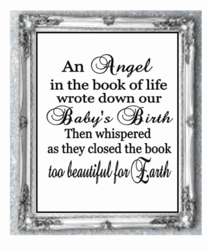 Vinyl Sticker DIY BOX FRAME An Angel in the book of Life ...