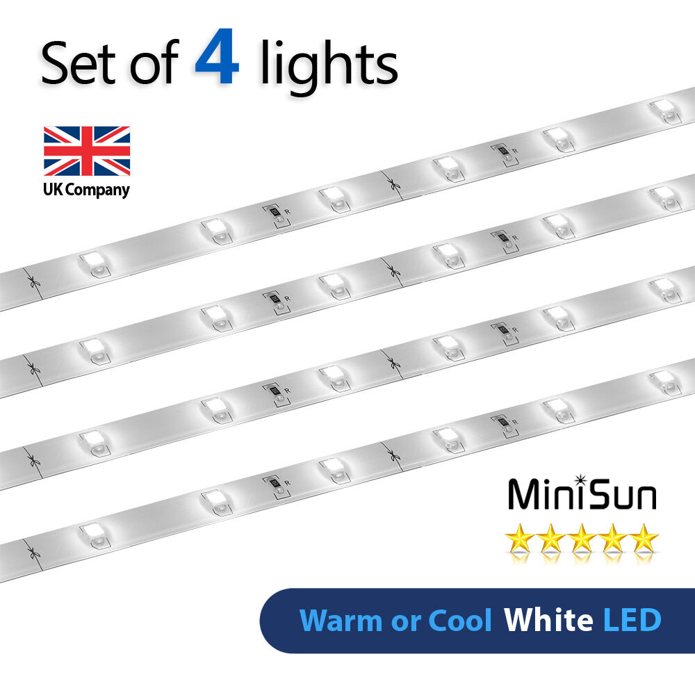 2 Watt 12 Volt Led Round Cabinet Light Fitting Kits Cool: 4 X Plug In White LED Under Kitchen Cupboard Cabinet Link
