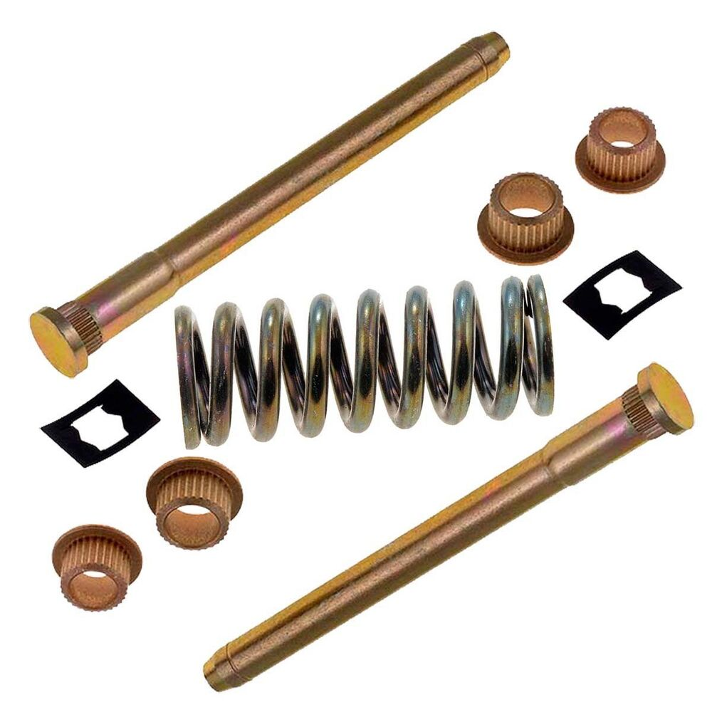 Front Or Rear Door Hinge Pin With Spring And Bushing Kit