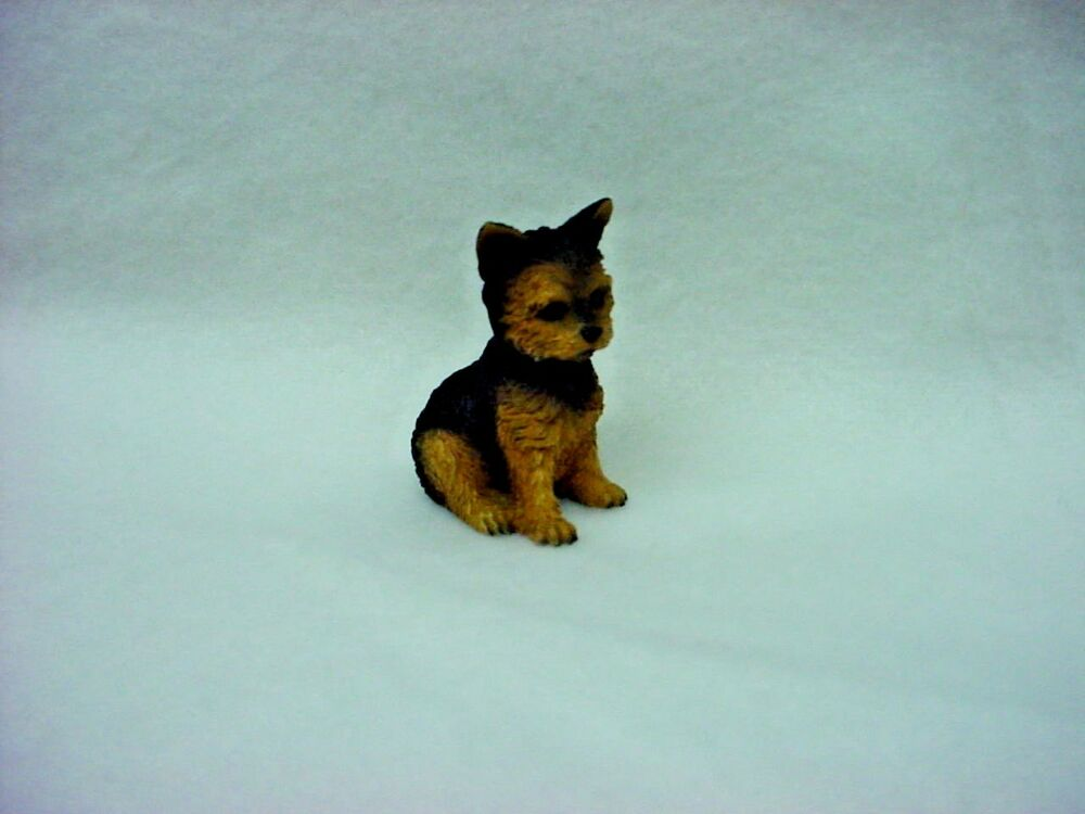 small yorkie puppy yorkie puppy tiny dog figurine hand painted miniature 6709