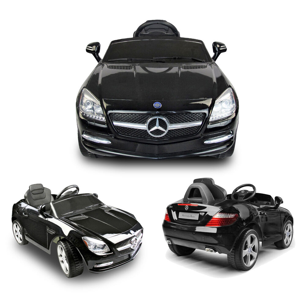 New black mercedes benz slk r c mp3 lights kids ride on for Mercedes benz toy car ride on
