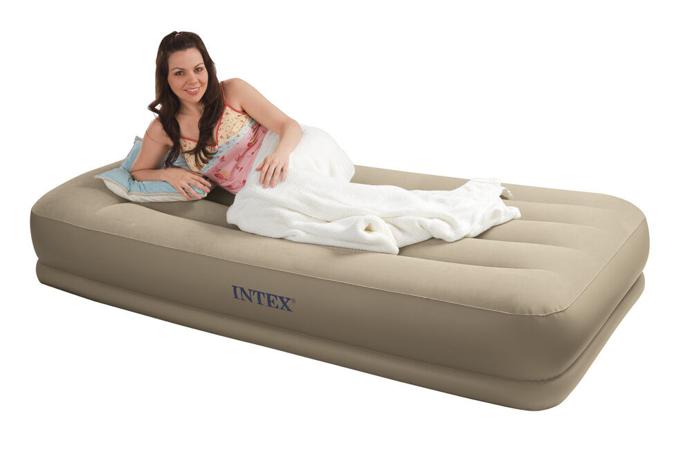 Intex Pillow Rest Mid Rise Air Bed Mattress Airbed W Built