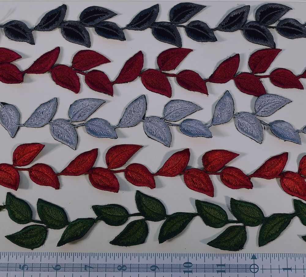 Vintage 12 swiss leaves applique ebay for Applique vintage