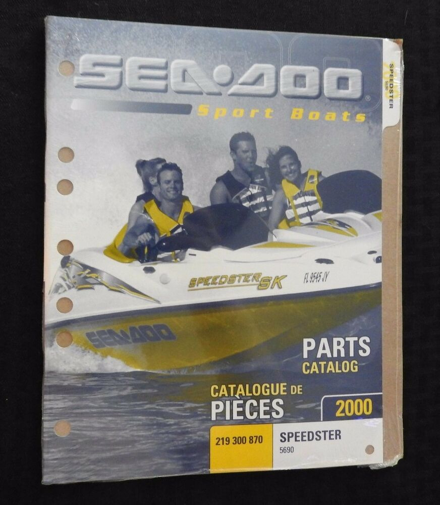 GENUINE 2000 SEA DOO SPEEDSTER 5690 JET BOAT SPORT WATERCRAFT PARTS MANUAL  NEW | eBay
