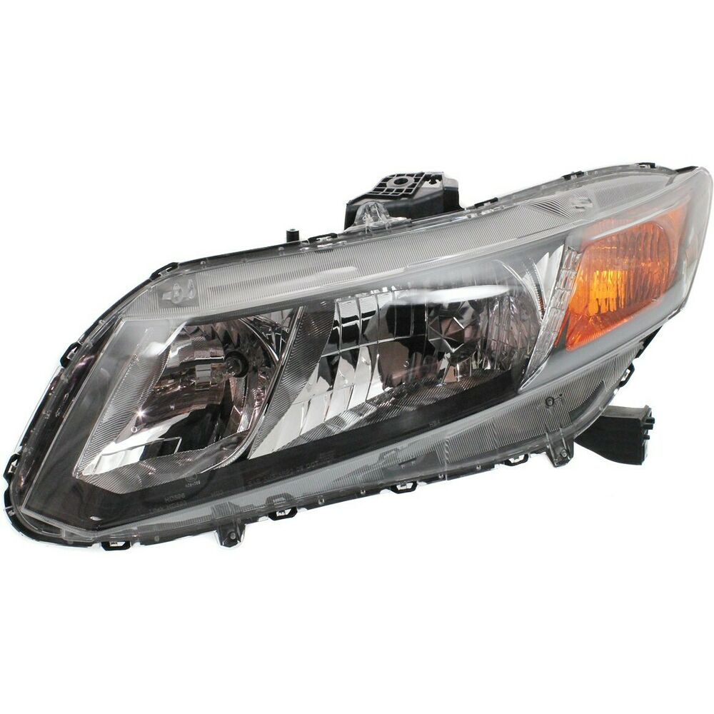 headlight for 2012 honda civic driver side w bulb ebay. Black Bedroom Furniture Sets. Home Design Ideas