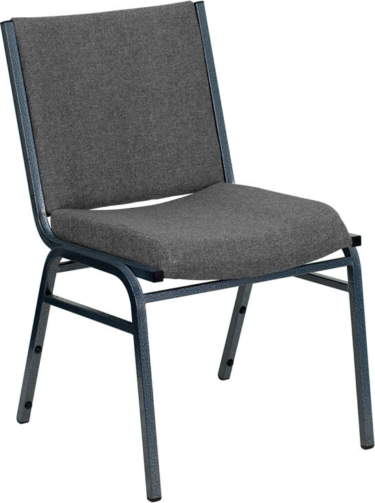 HEAVY DUTY GRAY FABRIC STACK OFFICE GUEST CHAIR EBay