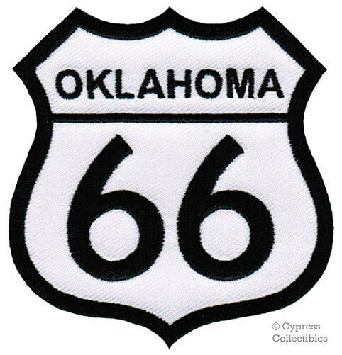 Oklahoma route embroidered patch iron on applique