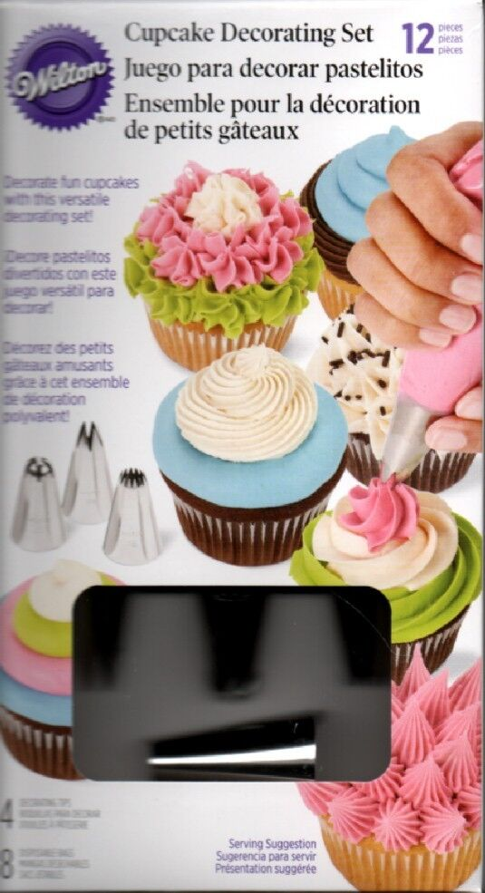 Wilton Cake Decorating Bags Tips : Wilton 12 Piece Cupcake Frosting Cake Cookie Decorating ...