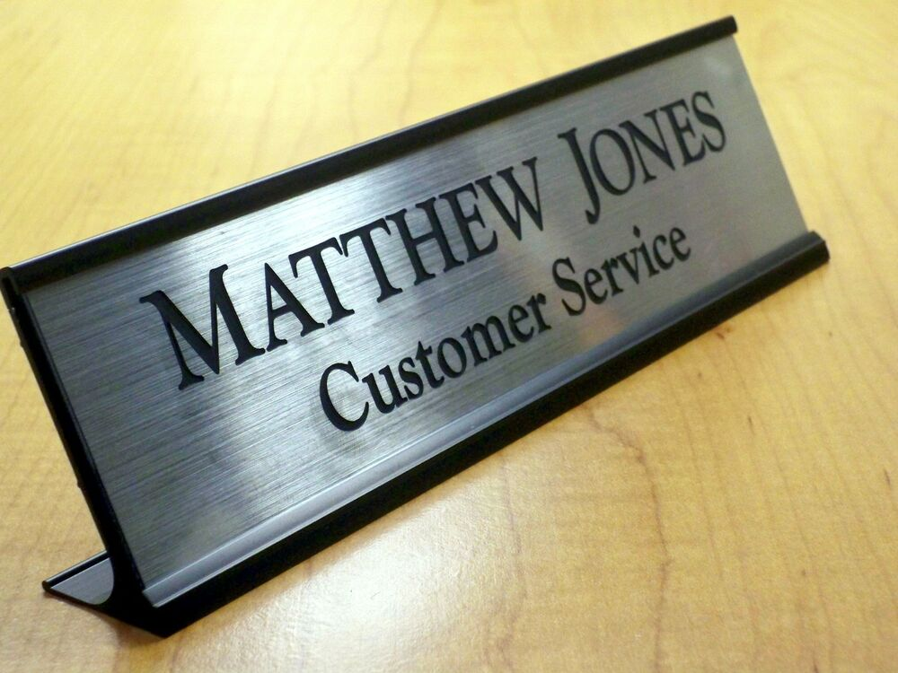 Custom Engraved 2x8 Desk Sign Name Plate | Personalized