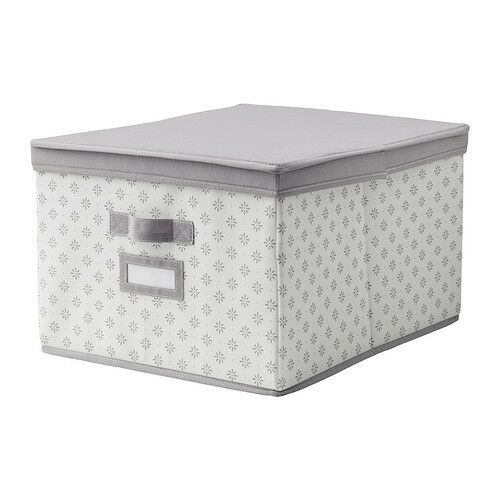 Ikea svira box with lid gray storage organization closet - Box armadio ikea ...