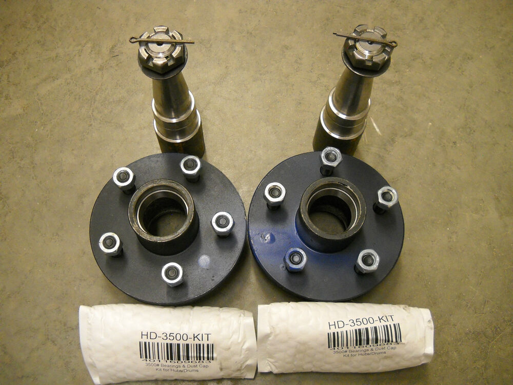Trailer Hubs And Spindles : Build your own  hubs trailer axle kit with