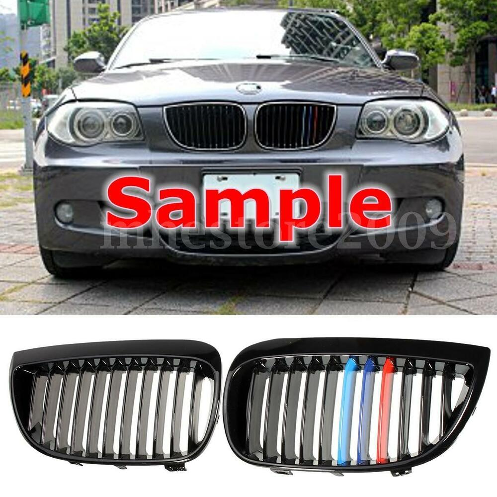 Bmw Grills: Pair Gloss Black M-Color Sport Kidney Grill Grille For BMW