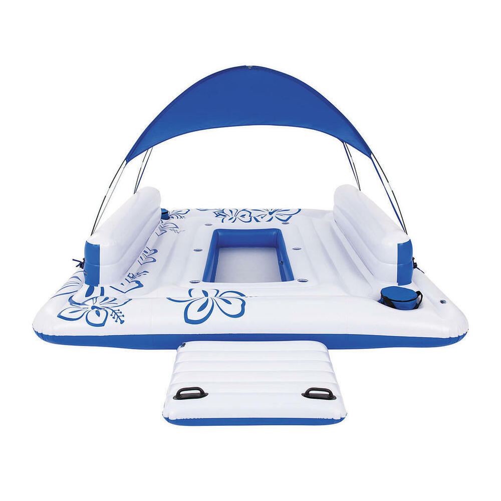 Relaxation Station Pool Lounge: Bestway Tropical Breeze II Inflatable 6-Person Floating