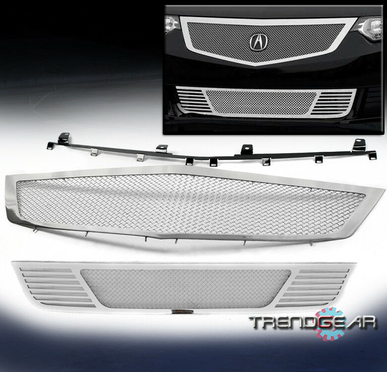 2009-2010 ACURA TSX FRONT UPPER+BUMPER STAINLESS MESH