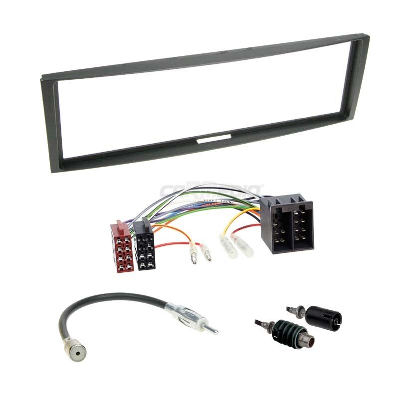 renault clio 3 05 09 1 din autoradio einbauset adapter kabel radioblende ebay. Black Bedroom Furniture Sets. Home Design Ideas