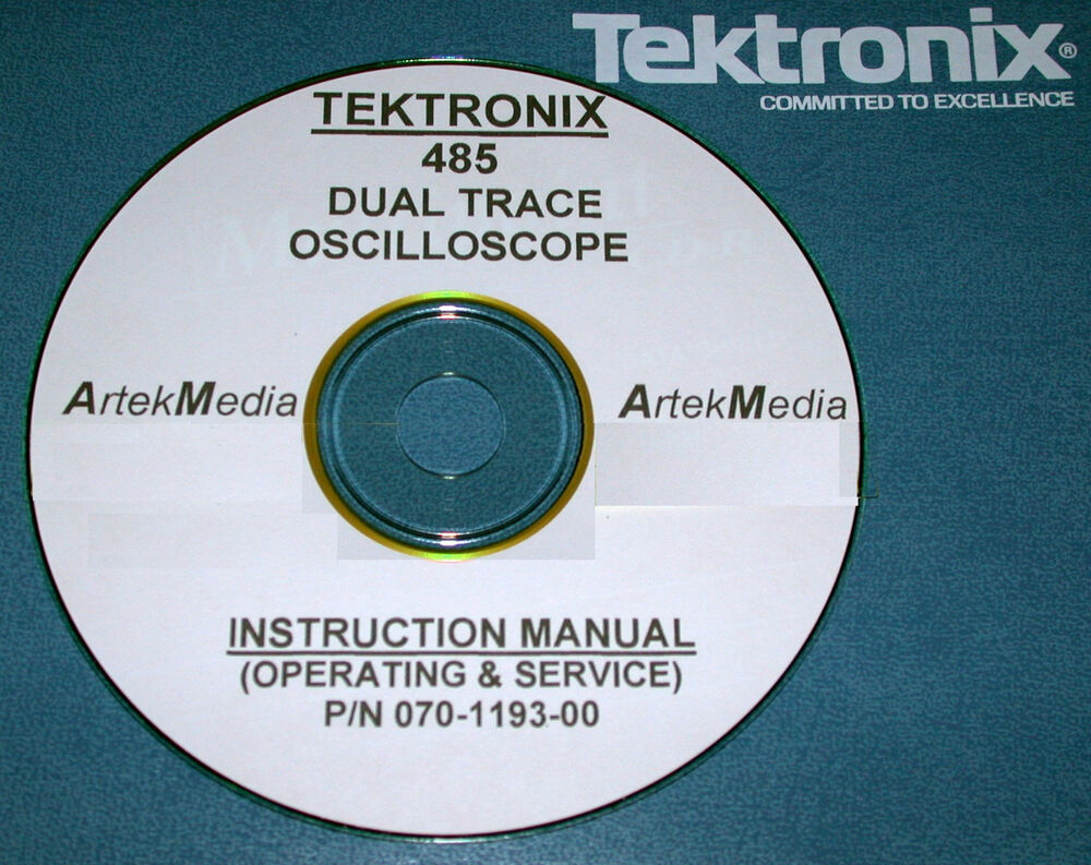 Tektronix Tek 485 Oscilloscopemanual Operating Service With