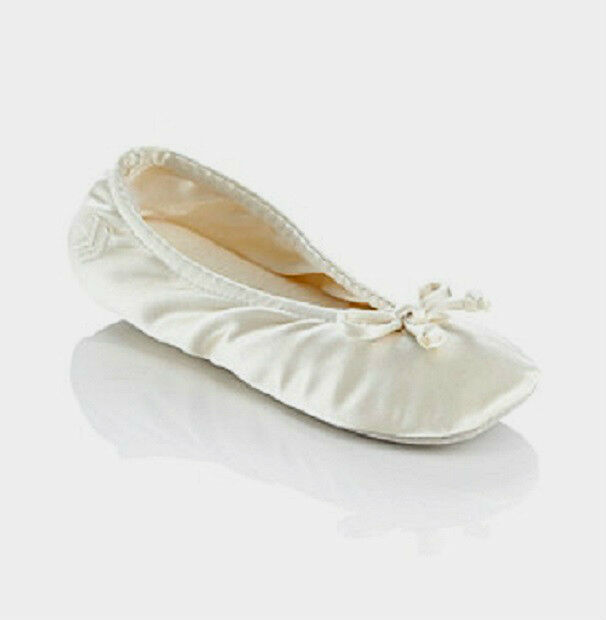 white isotoner ballet slippers flat shoes size 11 12