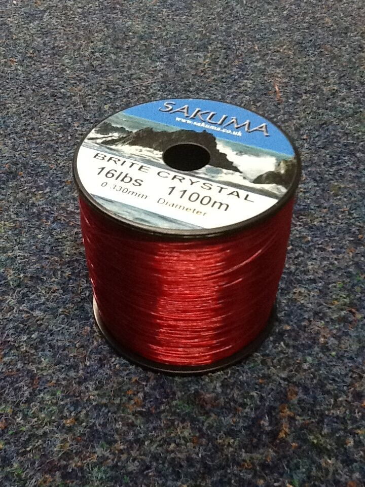 Sakuma brite crystal fishing line red ebay for Red fishing line
