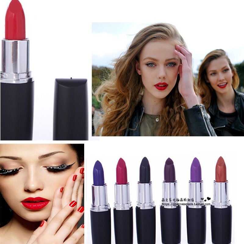 Women Party Makeup Sexy Long Lasting Bright Lipstick Red Black Purple Matte | EBay