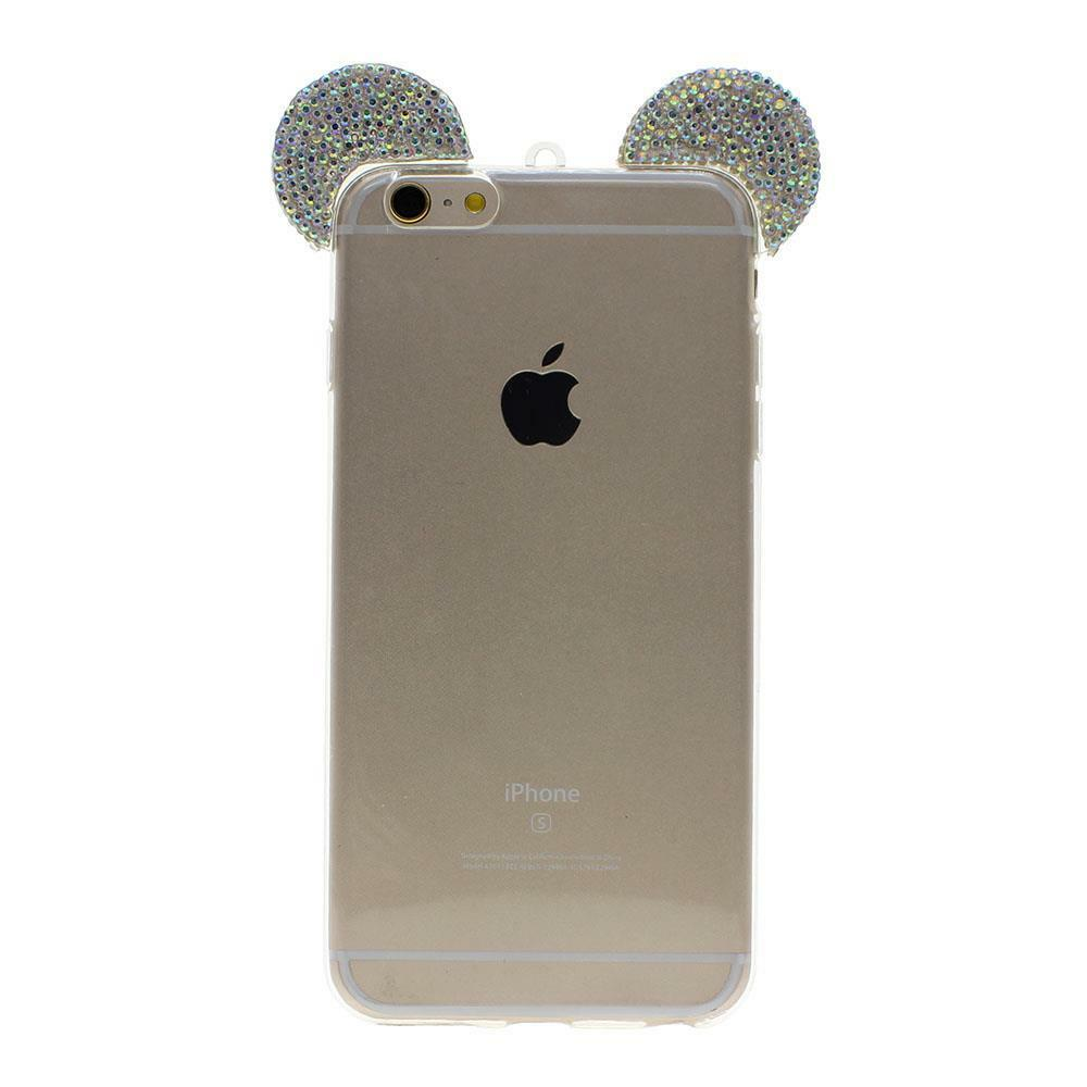 iphone 6 phone cases fashion mickey mouse rhinestone ears cell phone cover 15013