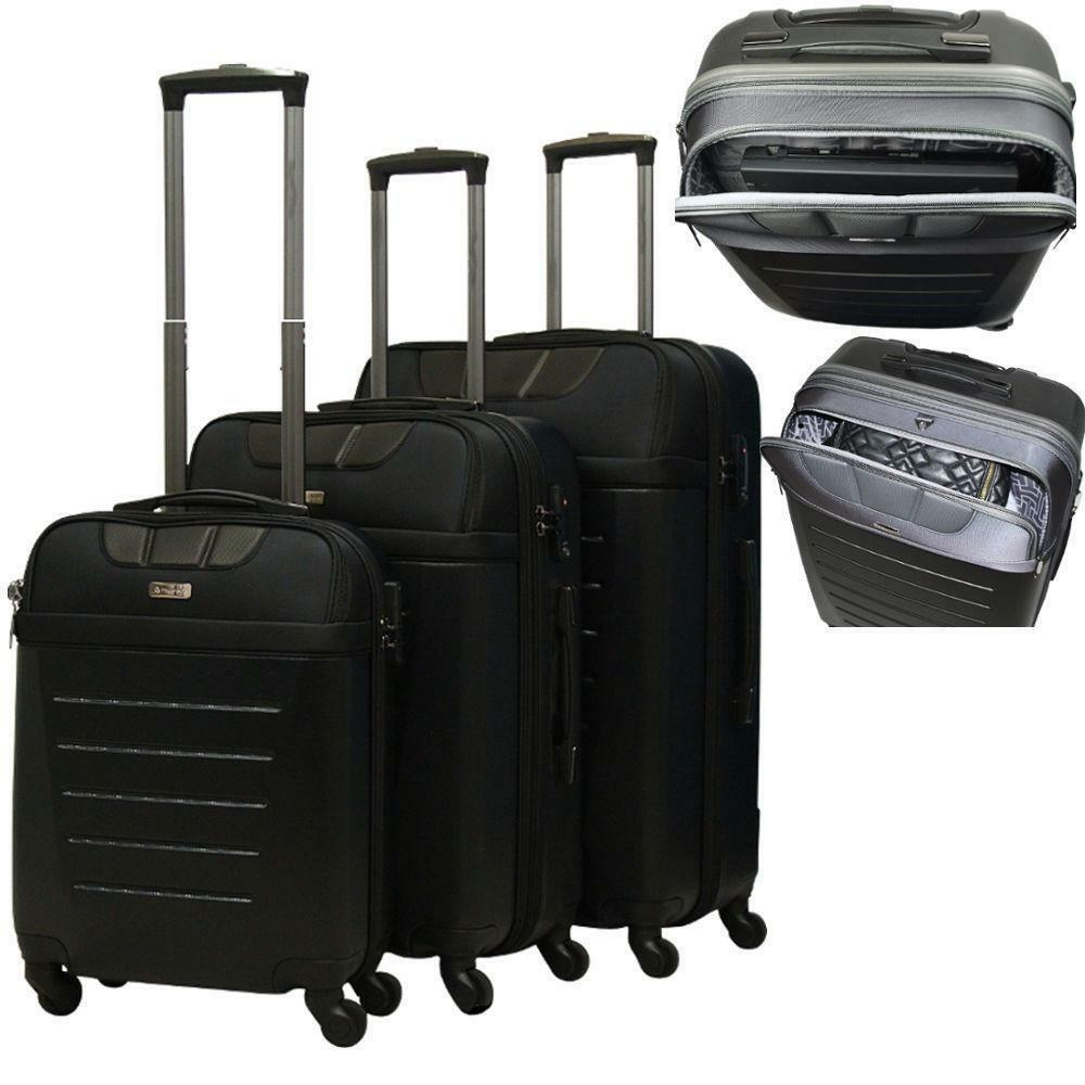 reisekoffer hartschale toronto trolley m l xl set koffer tsa laptop beautycase ebay. Black Bedroom Furniture Sets. Home Design Ideas