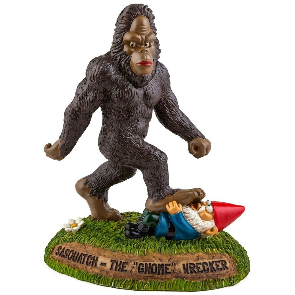 Gnome In Garden: BigMouth Inc. The BigFoot Sasquatch Gnome Wrecker