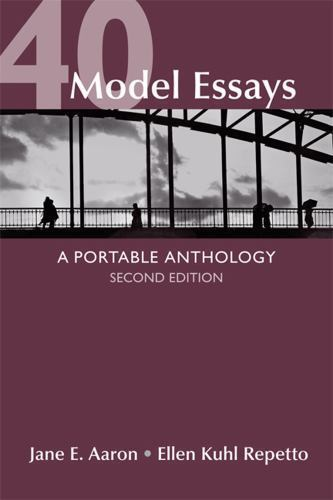 40 model essays a portable anthology answers Trove: find and get australian resources books, images, historic newspapers, maps, archives and more.