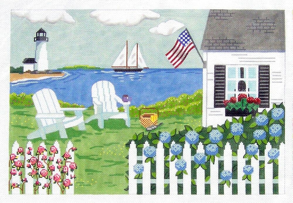 Mbm cottage by the sea nantucket new england handpainted for Nantucket by the sea