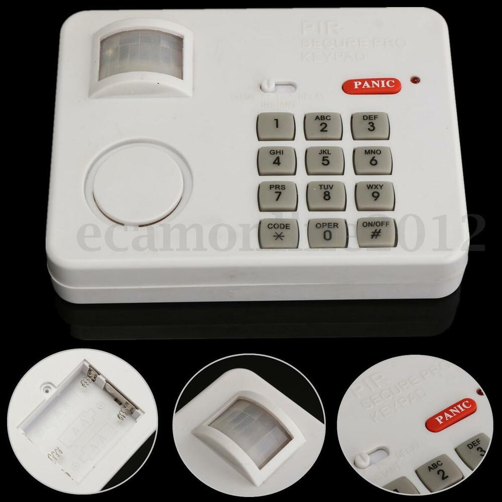 Pir Wireless Motion Sensor Alarm With Security Keypad For