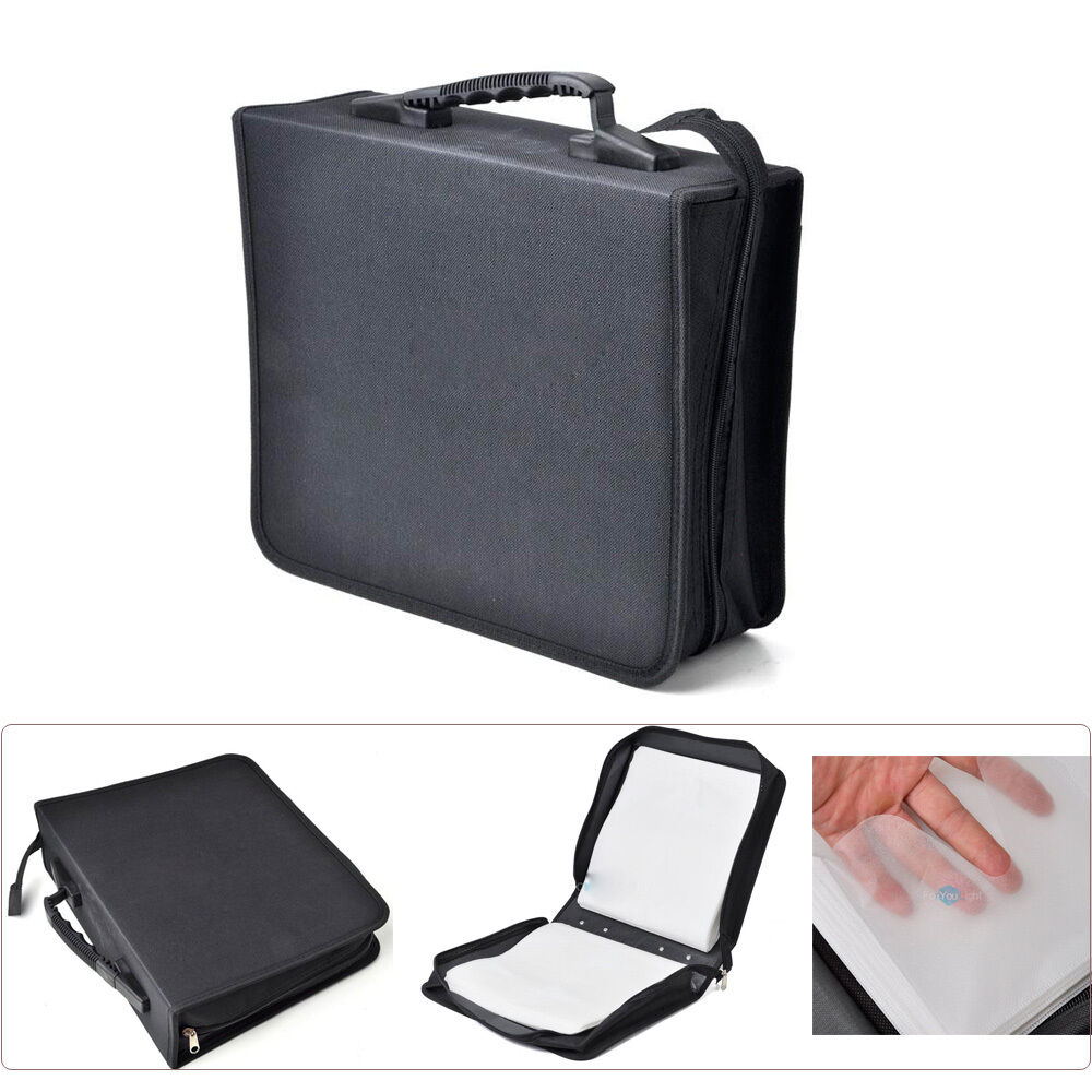 288 Capacity Disc Cd Dvd Storage Holder Cover Carrying