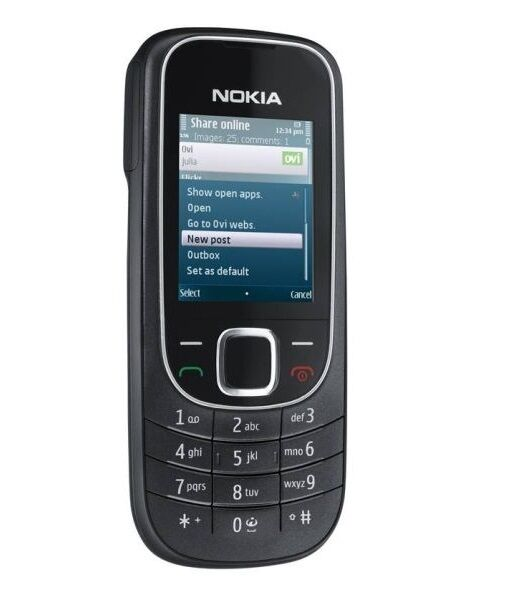 nokia 2323 classic black schwarz rm 543 handy ohne simlock. Black Bedroom Furniture Sets. Home Design Ideas