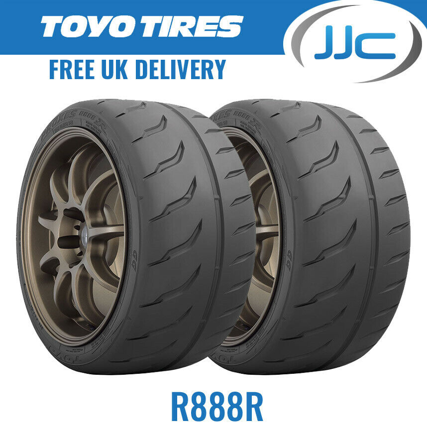 2 x 255 40 17 94w toyo r888r trackday race e marked tyres. Black Bedroom Furniture Sets. Home Design Ideas