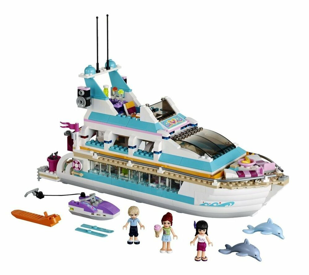 Toys For Ages 6 12 : Large lego cruise ship water boat themed set w figures