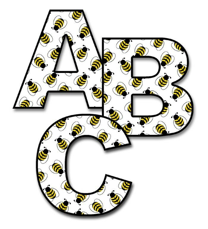 Bumble Bee Alphabet Letter Wall Decal Baby Nursery
