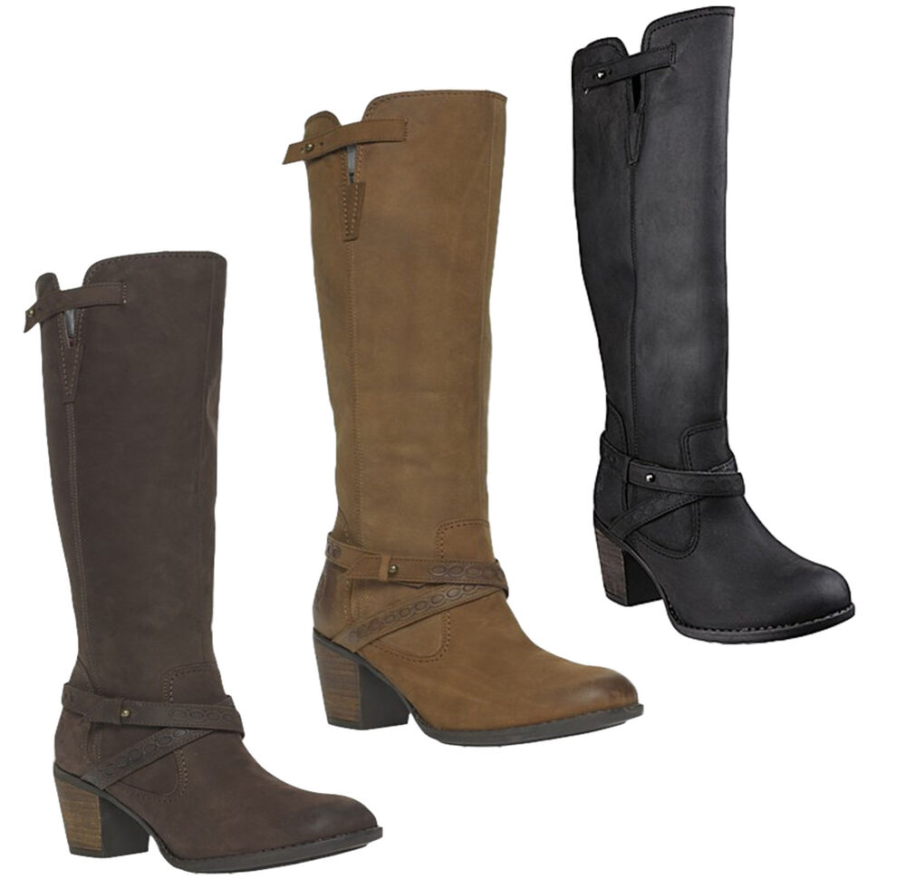Womens Hush Puppies Gussie Moorland Knee High Leather