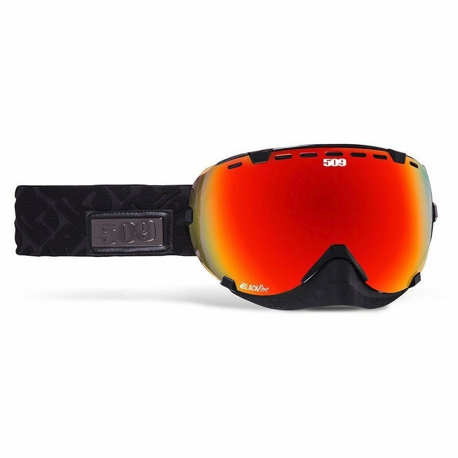 b2a756f99c1 Details about 509 Aviator Snow Snowmobile Goggles - Black Fire - Fire  Mirror with Rose Tint