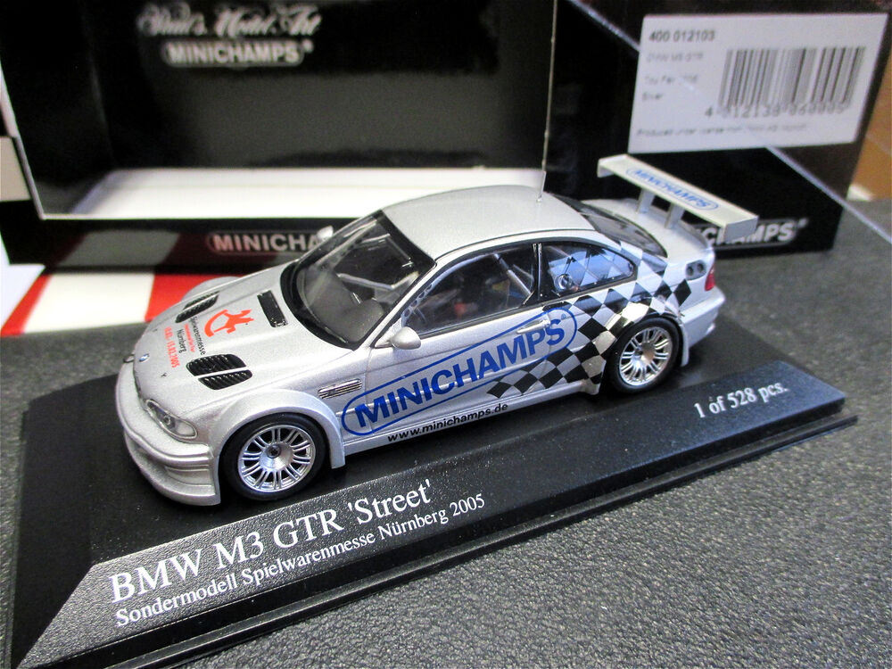 1 43 bmw m3 gtr street spielwaren messe modell n rnberg 2005 minichamps mint ebay. Black Bedroom Furniture Sets. Home Design Ideas
