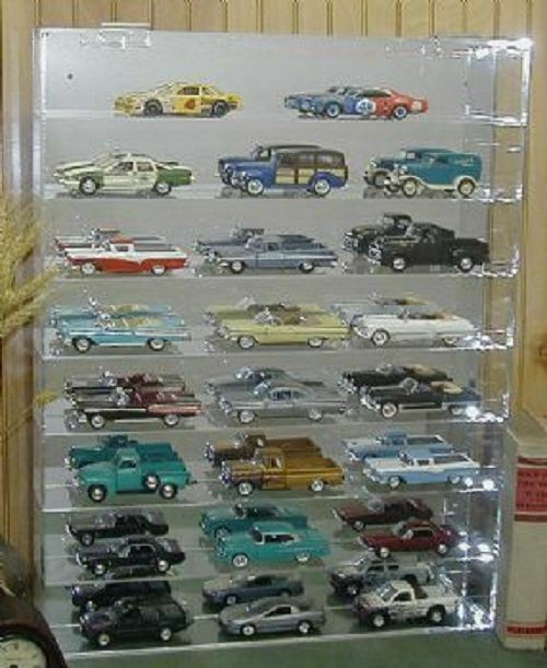 Diecast Acrylic Model Car Display Case 1:32 Holds 24 New