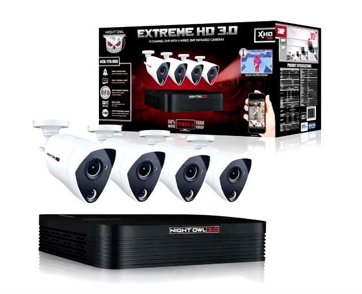 Night Owl 8 Channel Hd 1080p 4 Camera Video Security