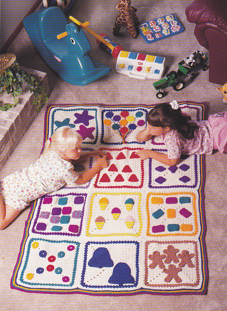 Crochet Afghan Patterns For Toddlers : Crochet Pattern ~ KIDS COUNT THE SHAPES AFGHAN ...