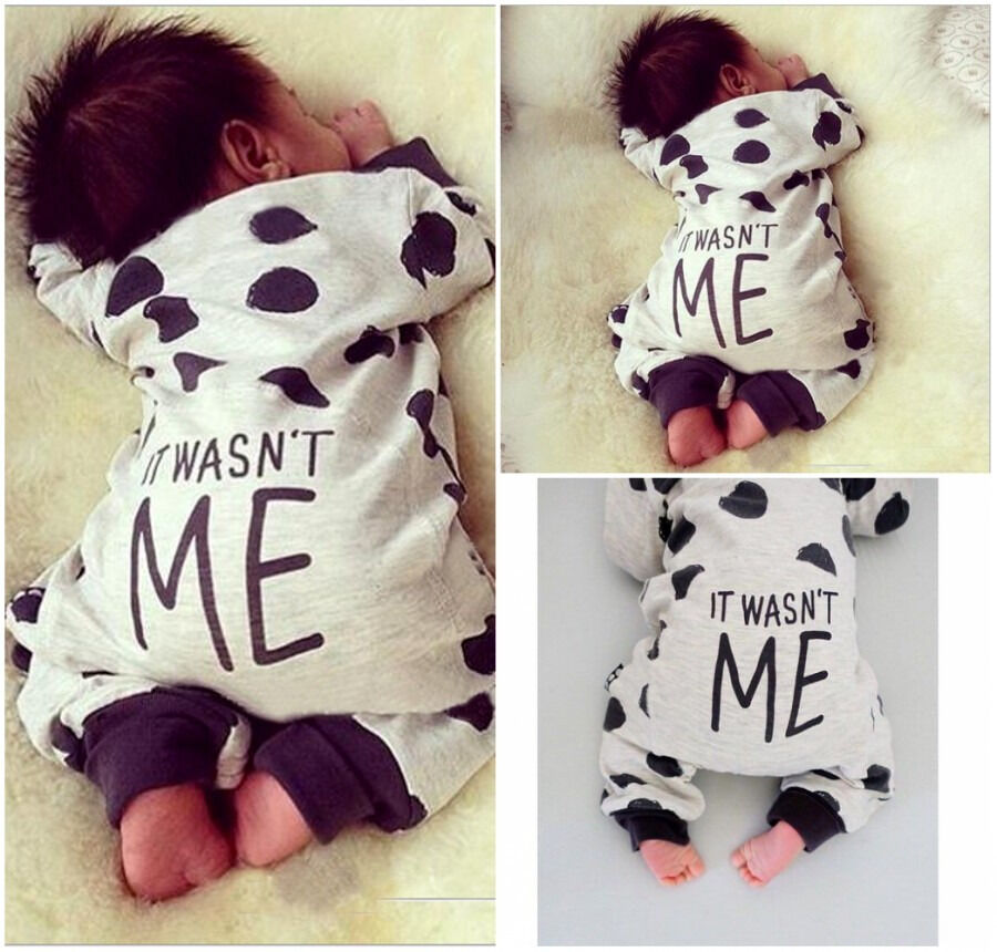 lovely newborn baby girls boy cotton romper bodysuit