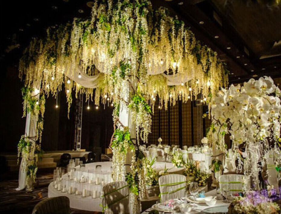 ebay wedding decor vine garland plants handmade silk flower hanging 3808