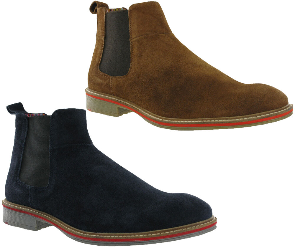 roamers dealer suede leather mens chelsea ankle